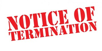 Notice of Termination